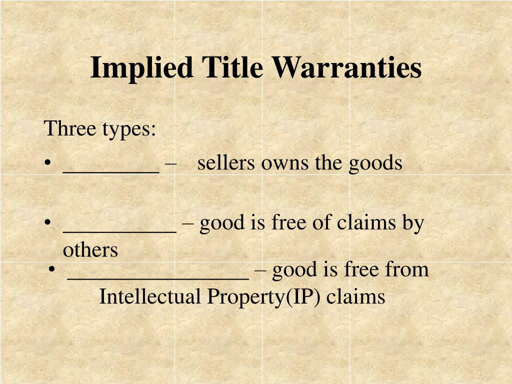Implied Title Warranties
