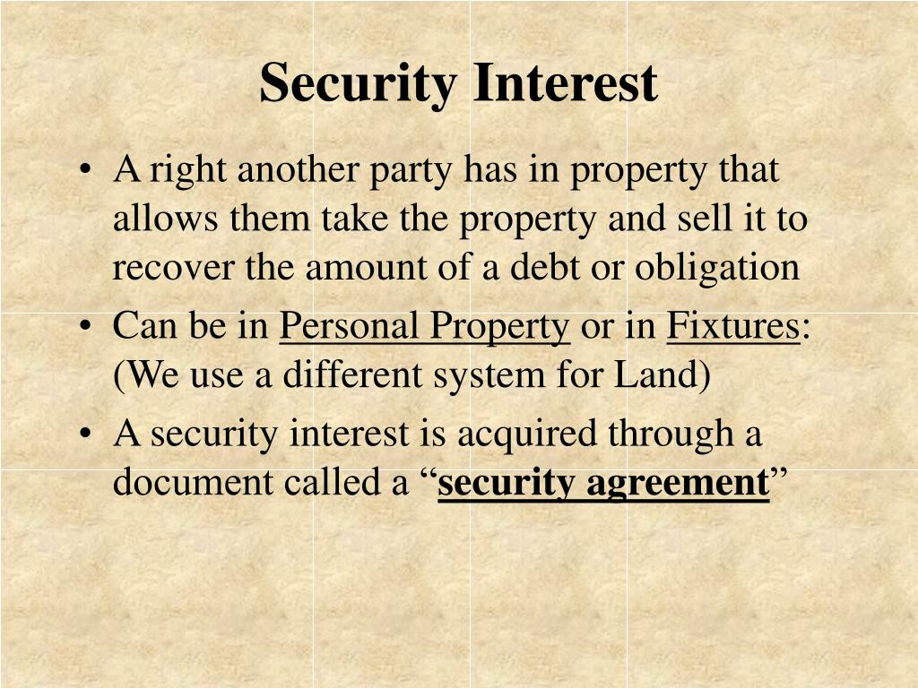Security Interest