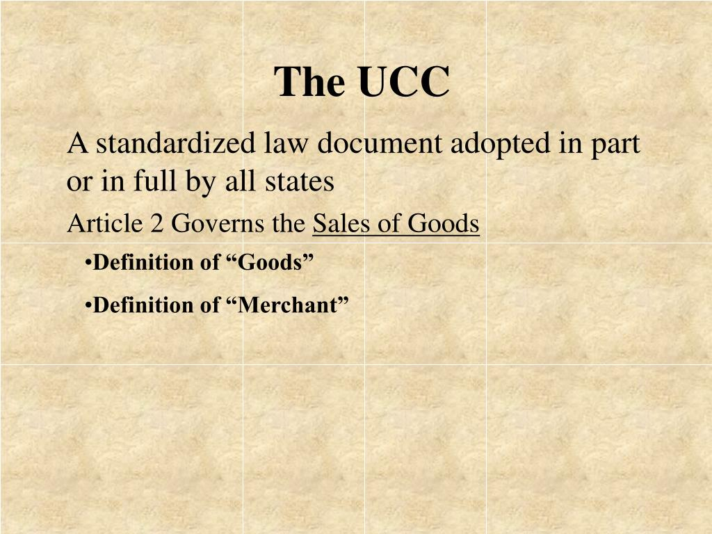 The UCC