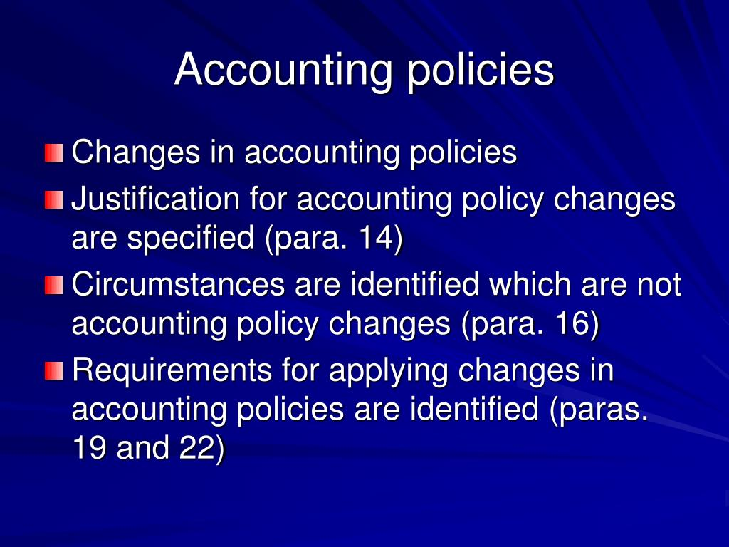 Accounting policies