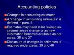 accounting policies30