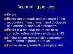 accounting policies31