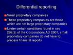 differential reporting13