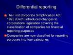 differential reporting7