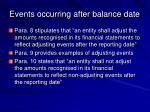 events occurring after balance date20