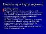 financial reporting by segments44