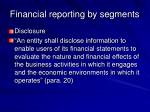 financial reporting by segments50