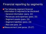 financial reporting by segments51