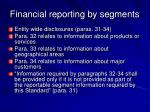 financial reporting by segments52