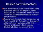 related party transactions36