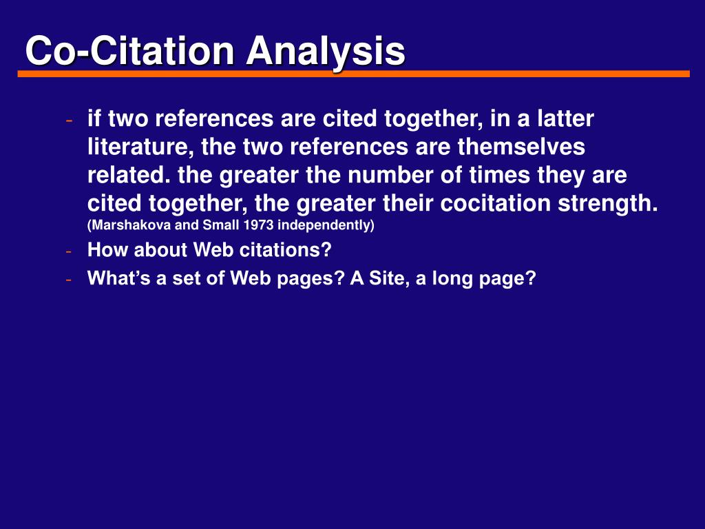 Co-Citation Analysis