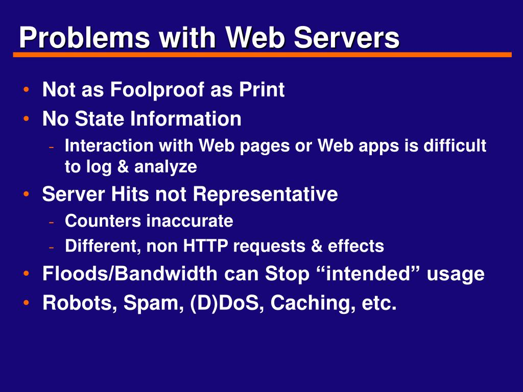 Problems with Web Servers