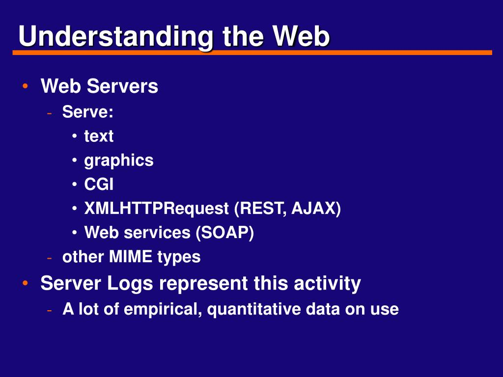 Understanding the Web