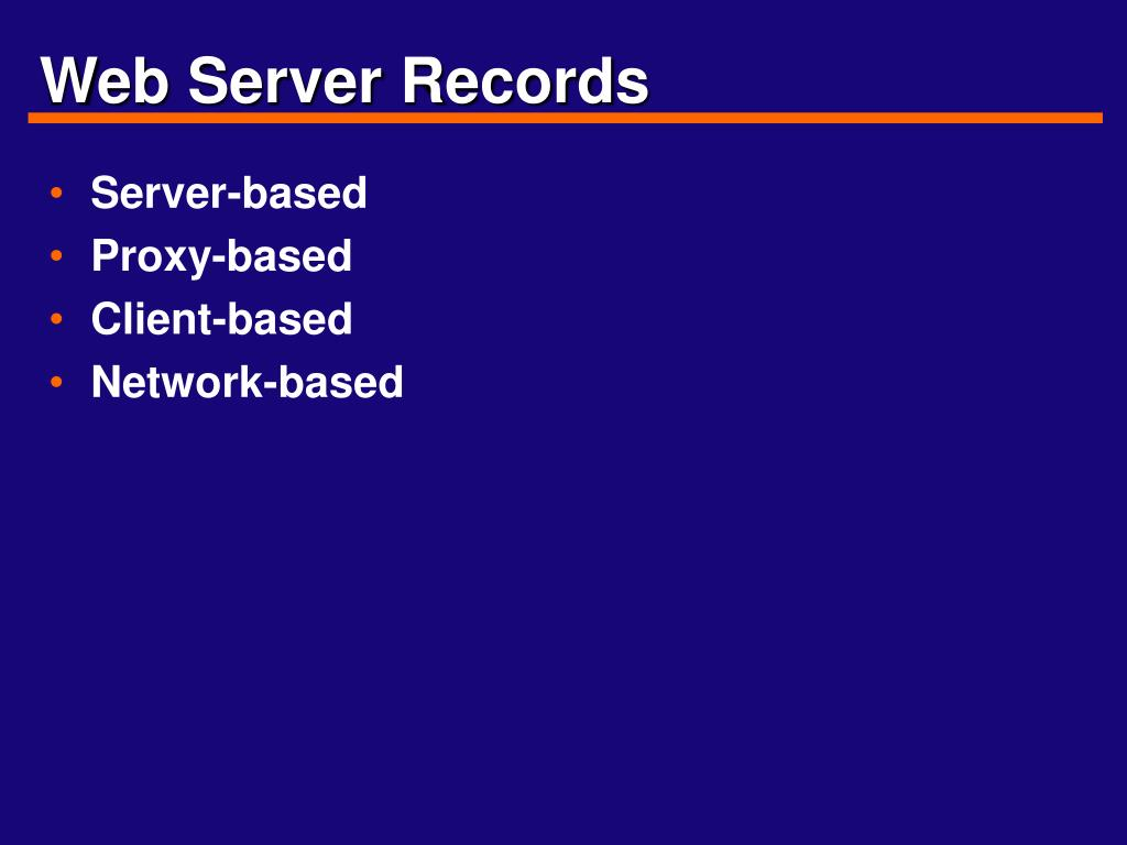 Web Server Records