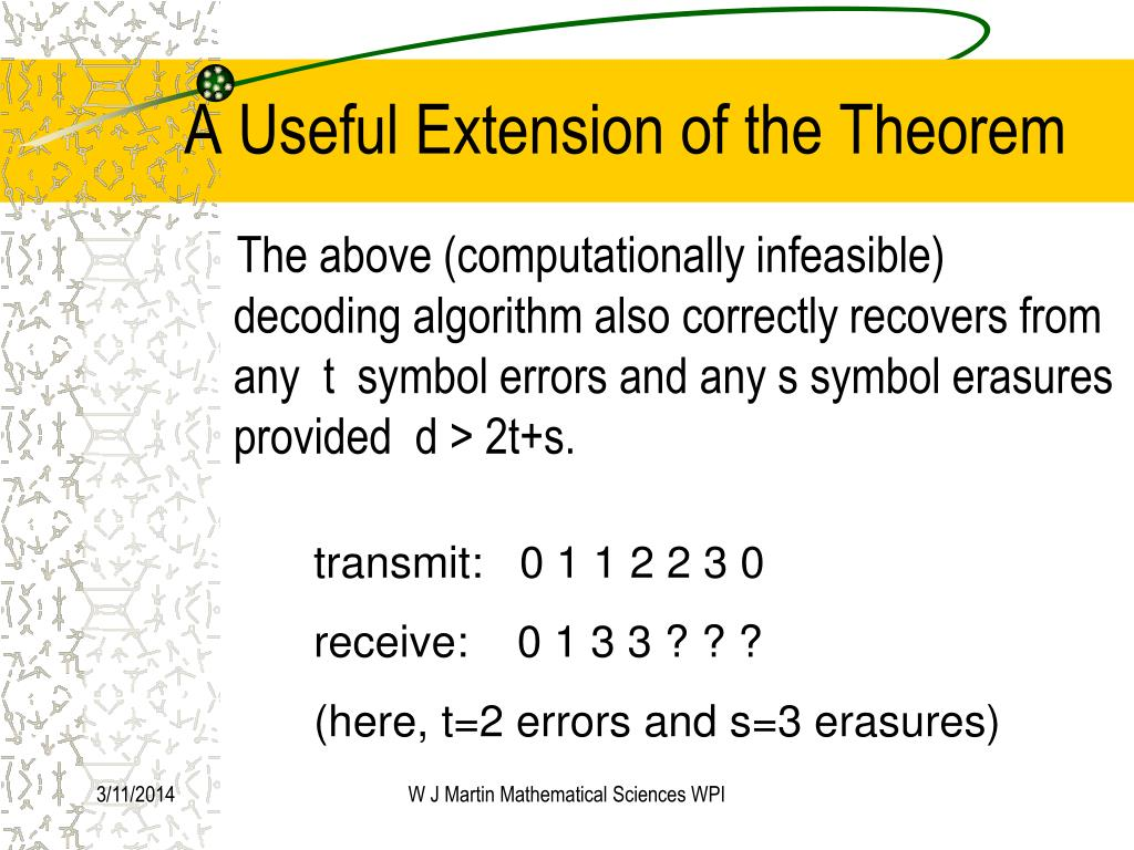 A Useful Extension of the Theorem