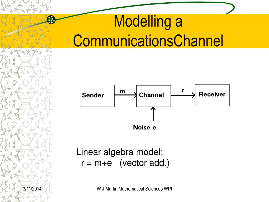 Modelling a CommunicationsChannel
