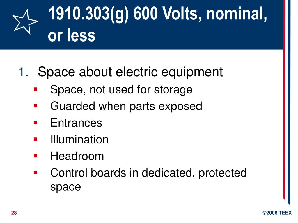 1910.303(g) 600 Volts, nominal, or less