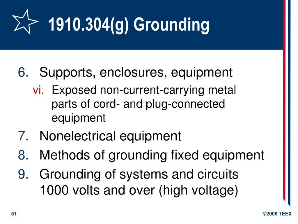 1910.304(g) Grounding