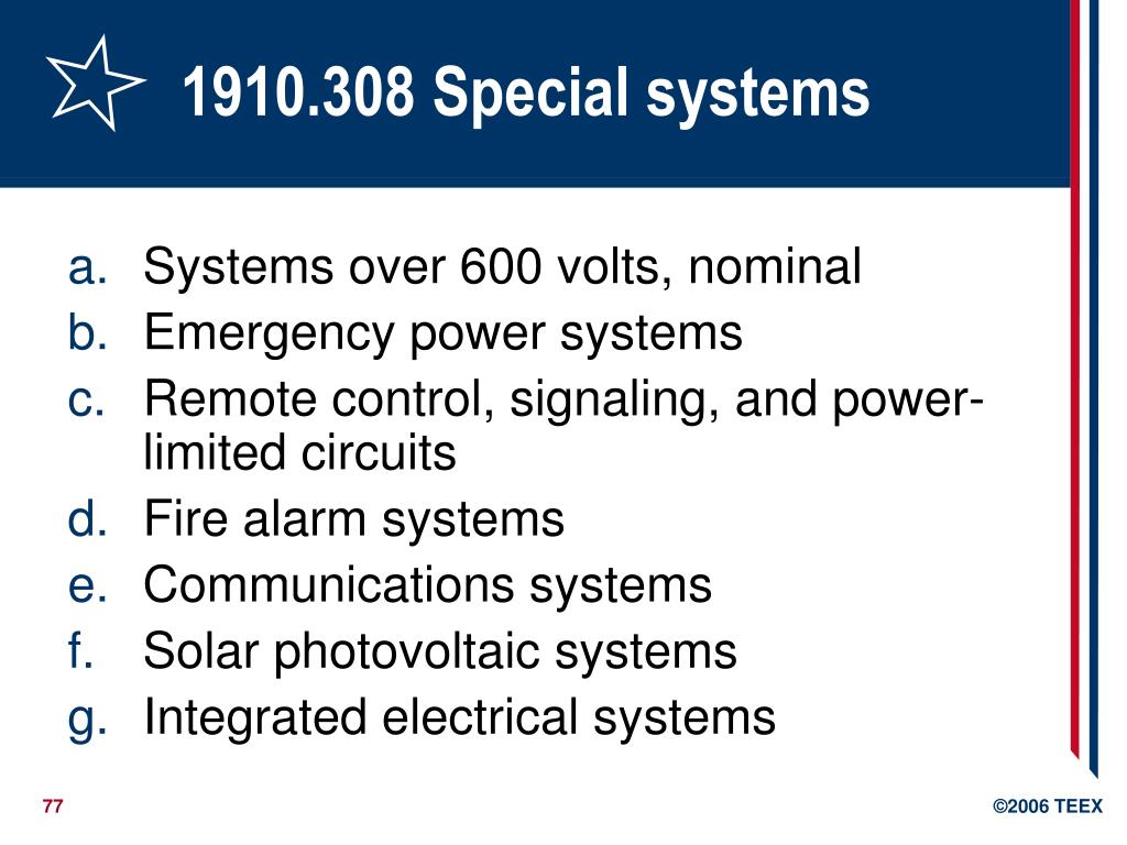 1910.308 Special systems