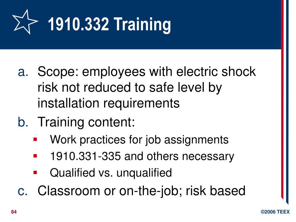 1910.332 Training