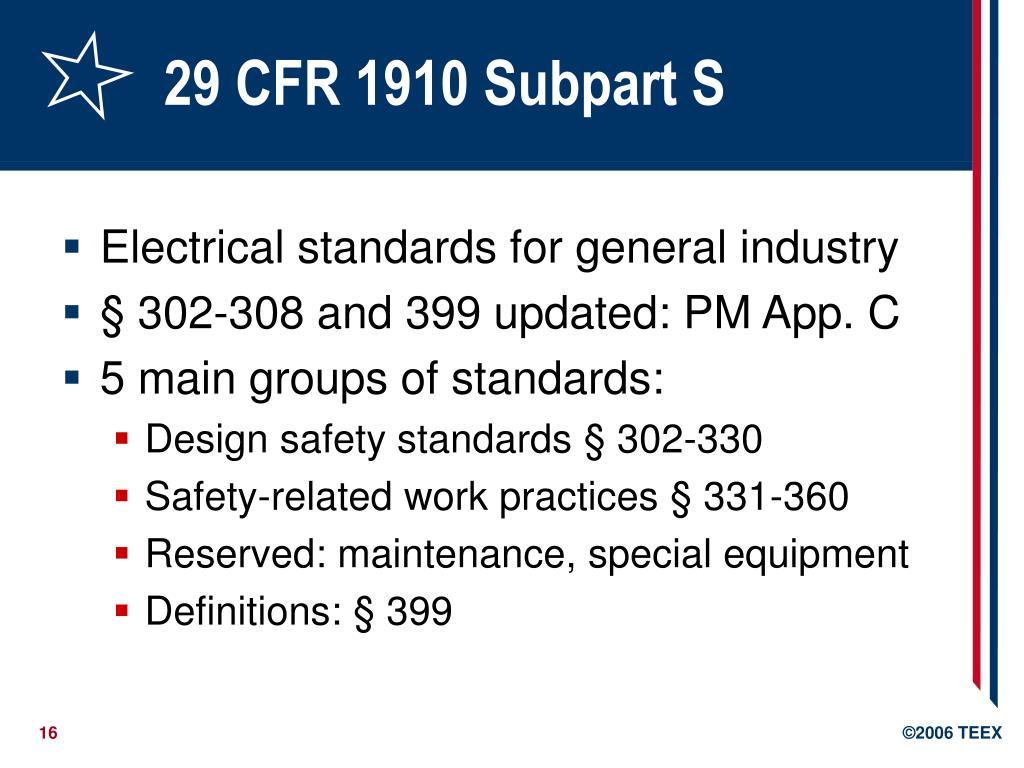 29 CFR 1910 Subpart S