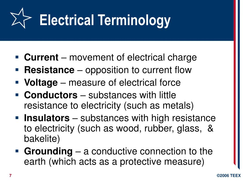 Electrical Terminology