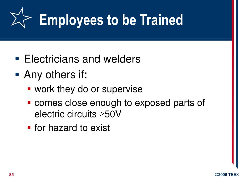 Employees to be Trained