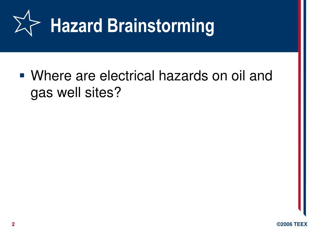 Hazard Brainstorming