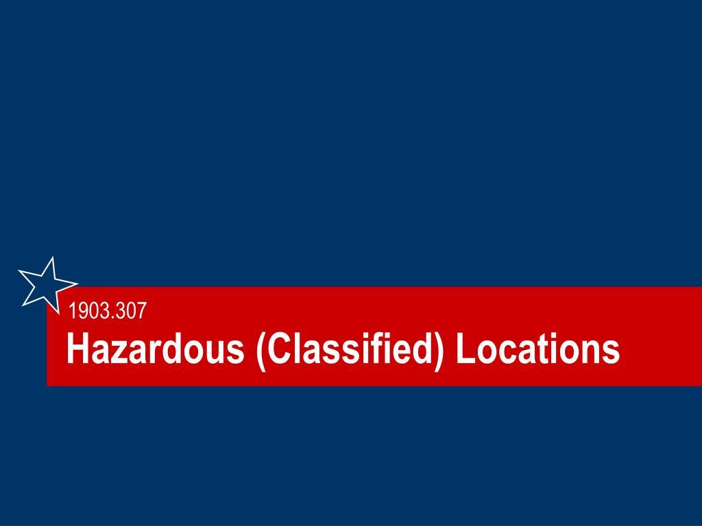 Hazardous (Classified) Locations
