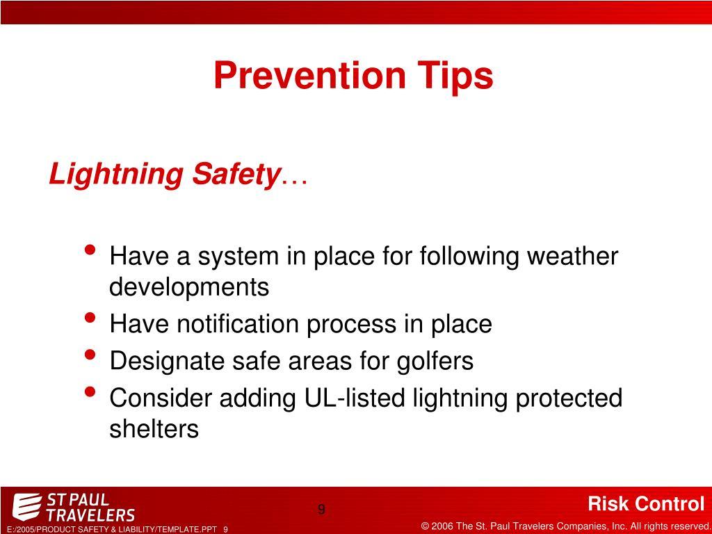 Prevention Tips