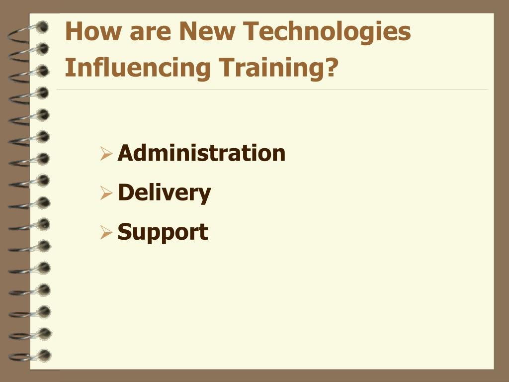 How are New Technologies Influencing Training?