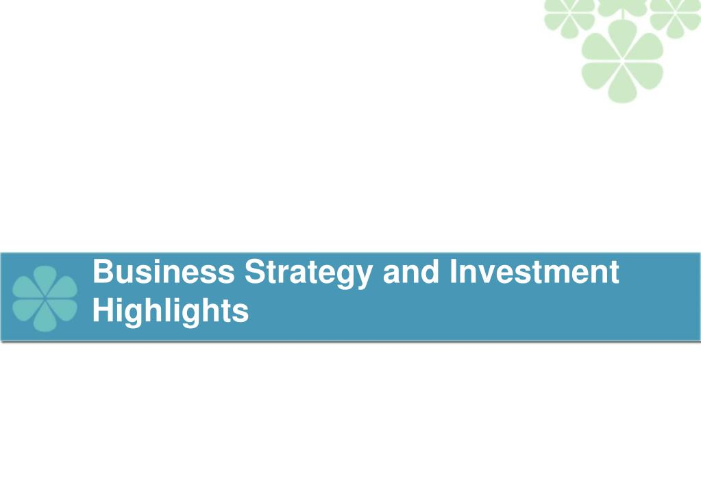 Business Strategy and Investment Highlights