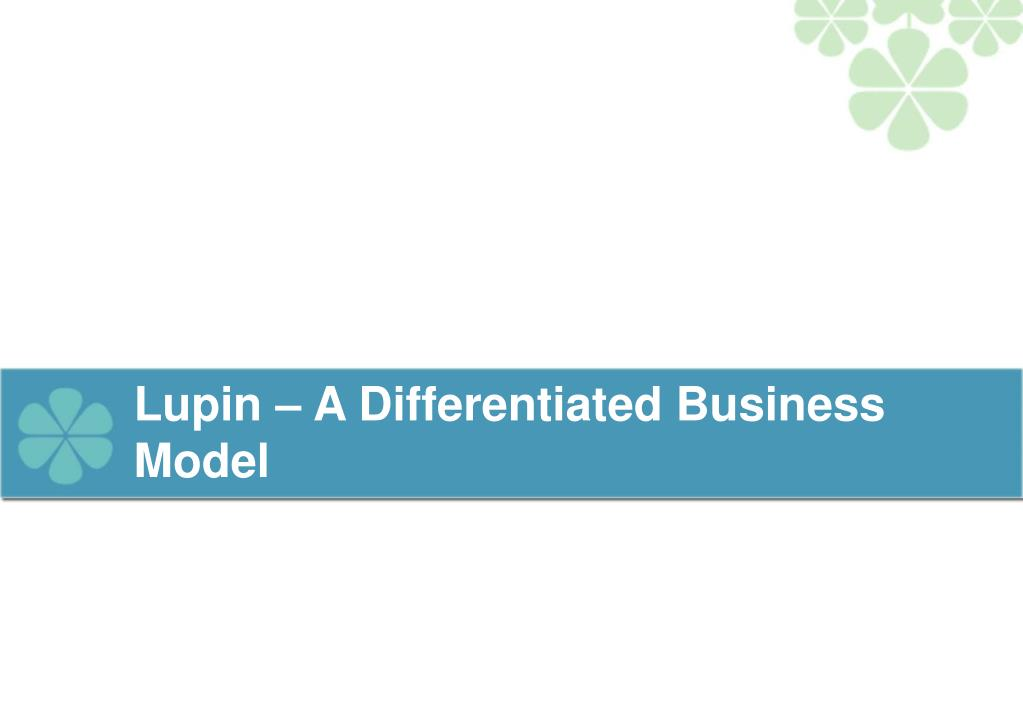 Lupin – A Differentiated Business Model