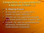 components of a successful ict services cluster cont3