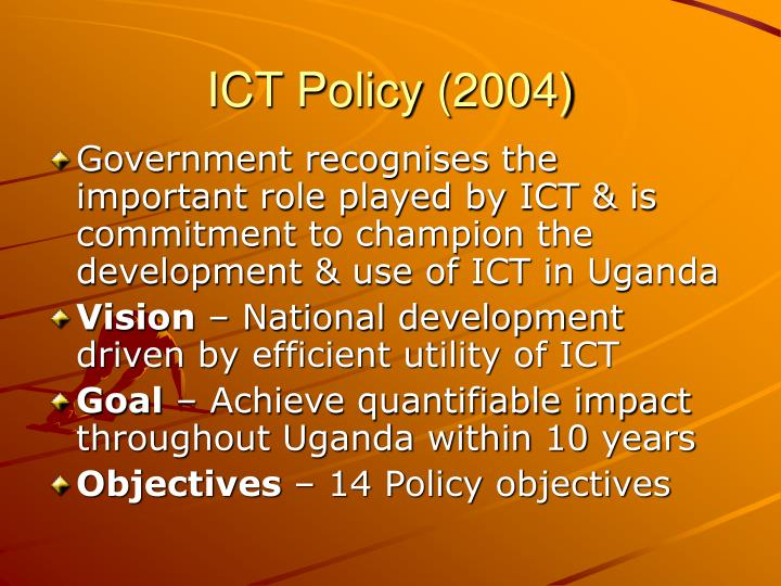 ICT Policy (2004)