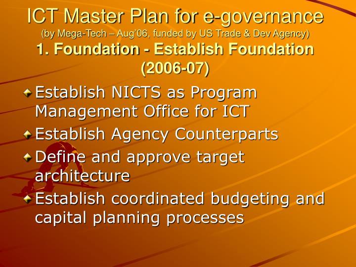 ICT Master Plan for e-governance