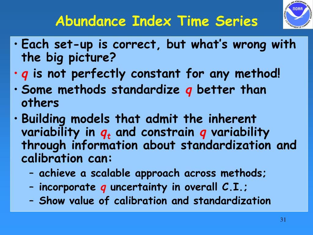 Abundance Index Time Series