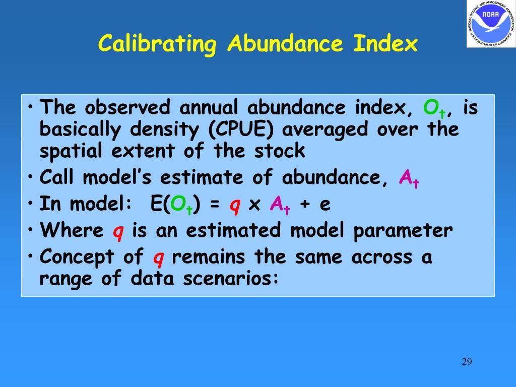 Calibrating Abundance Index