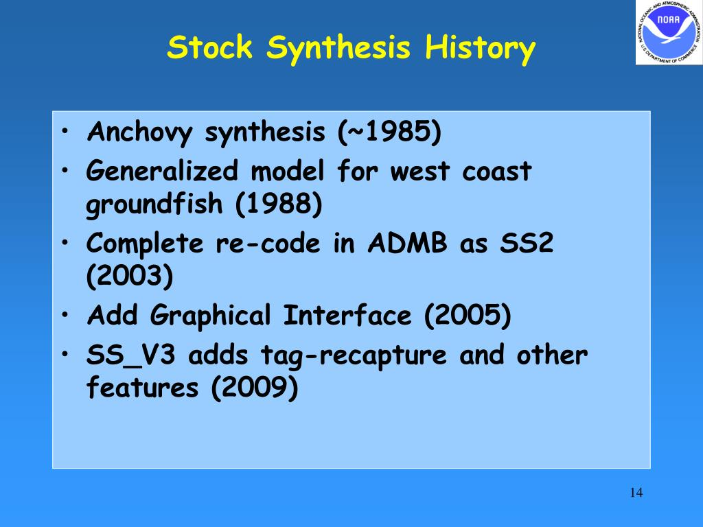 Stock Synthesis History