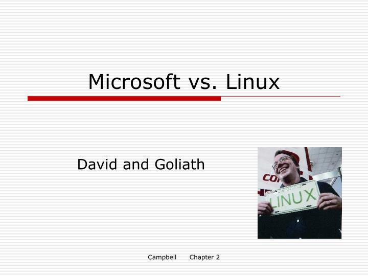 Microsoft vs. Linux