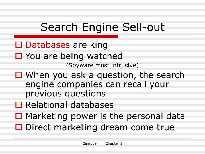 Search Engine Sell-out