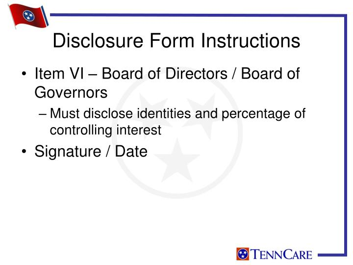 Item VI – Board of Directors / Board of Governors