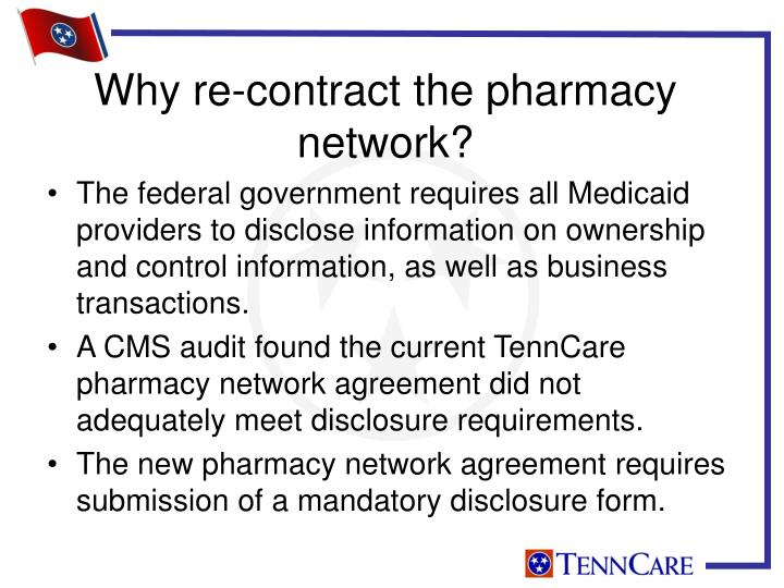 Why re contract the pharmacy network
