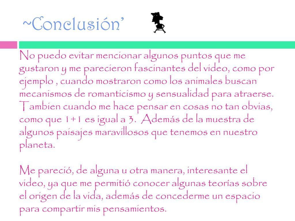 ~Conclusión'