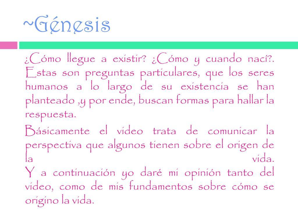 ~Génesis