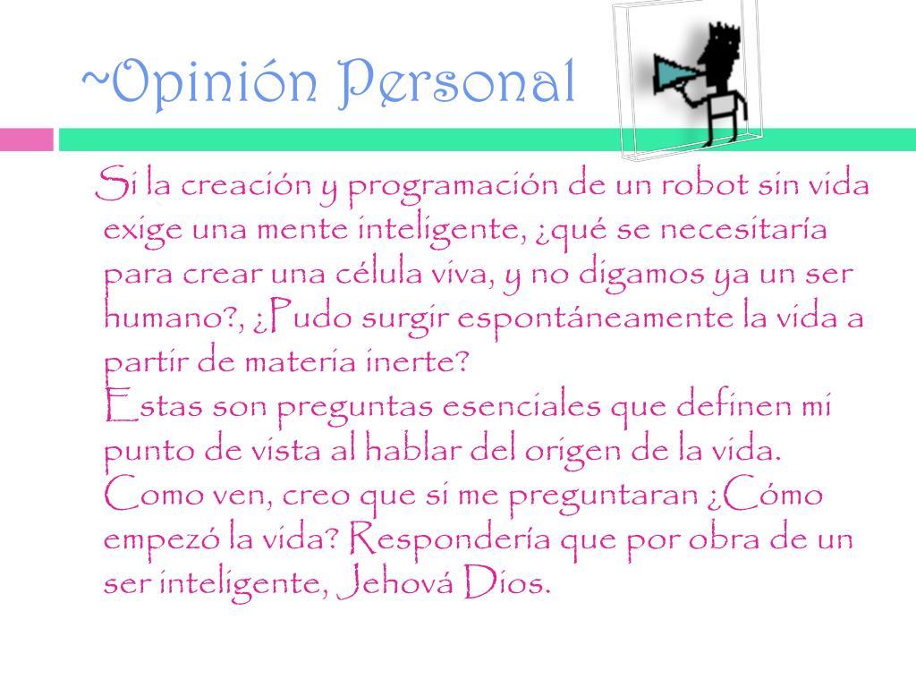 ~Opinión Personal