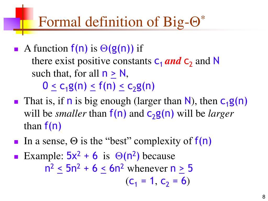 Formal definition of Big-