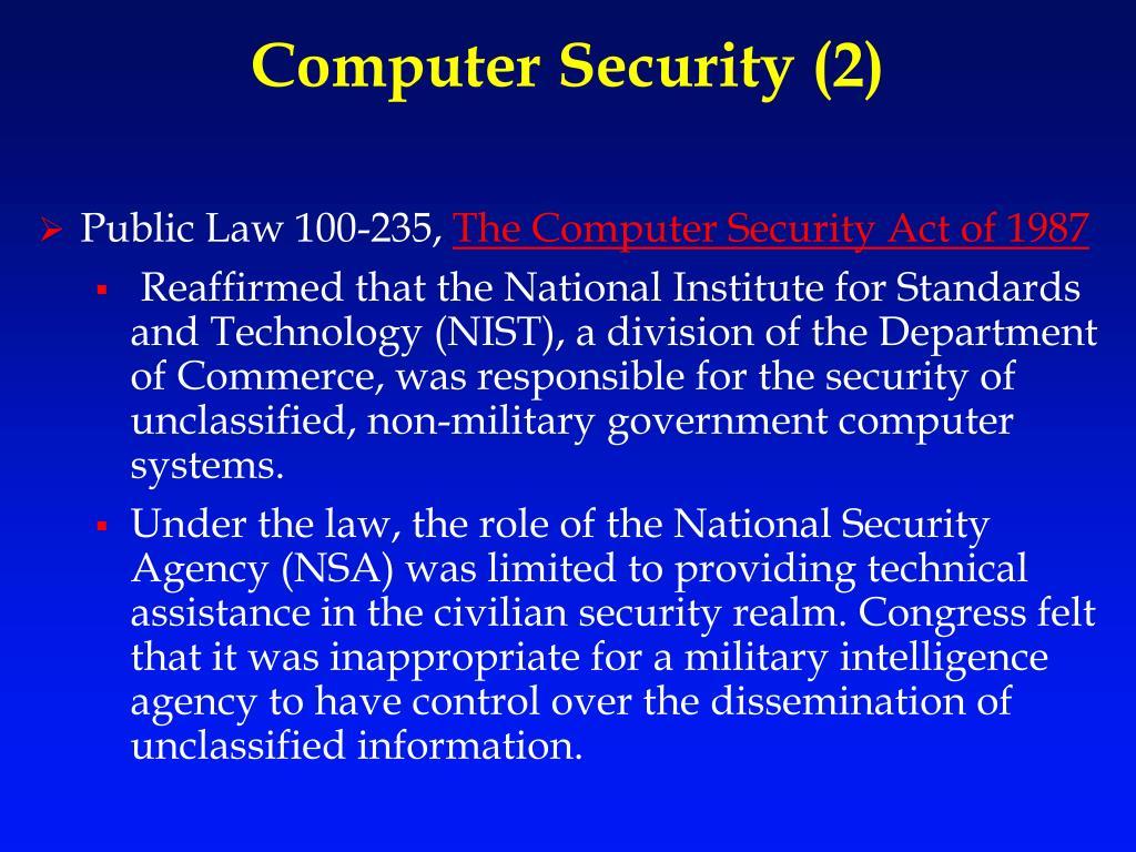 Computer Security (2)