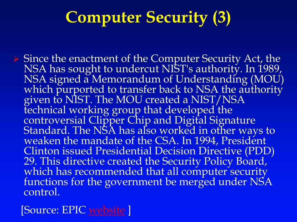 Computer Security (3)