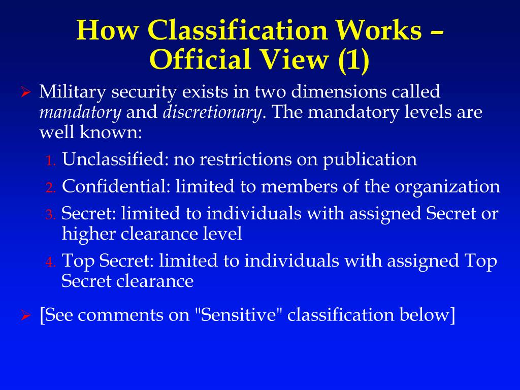 How Classification Works –